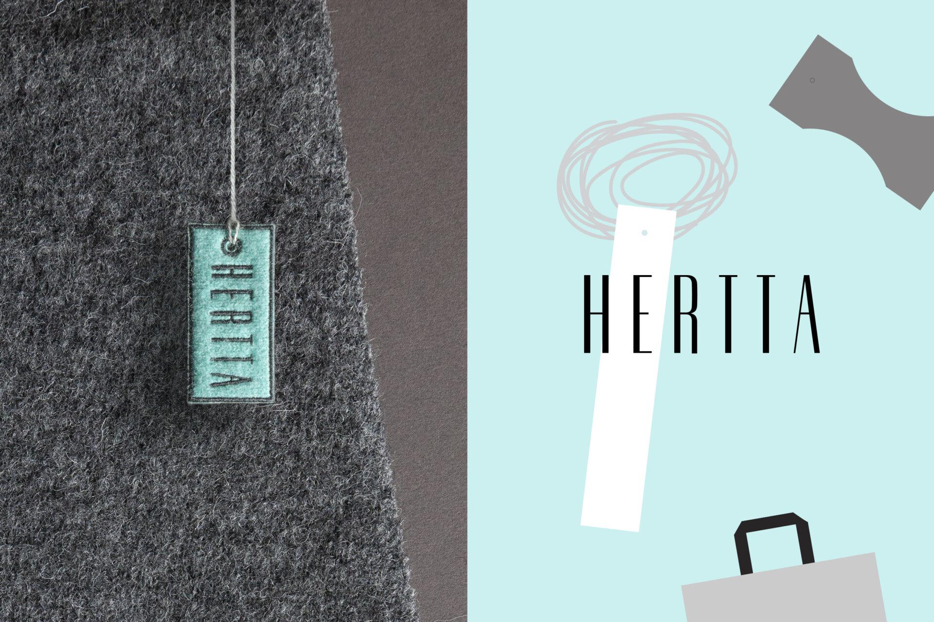 Visuaalne identiteet, logo ja bränding - Hertta Knitwear